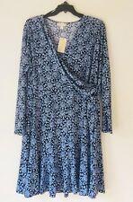 MICHAEL Michael Kors Plus Size Jewel-Print Flounced Wrap Dress. Size 3X.