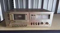 Vintage Hitachi D-220 Cassette Recorder Player Deck  FOR PARTS & REPAIR
