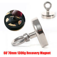 US 286LBS Pulling Force Round Double Sided Super Strong Neodymium Fishing Magnet