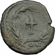 THEODOSIUS II 425AD  Ancient Roman Coin Cross within wreath of success  i32882