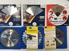 "6 Piece Vintage 10"" Craftsman Saw Blades / Sanding Disc"