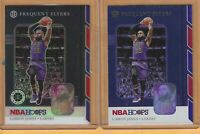 2019-20 NBA Hoops Premium LeBron James Frequent Flyers Prizm Foil #15 W/Hoops