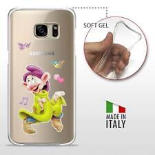 Samsung Galaxy S7 CASE COVER PROTETTIVA GEL TRASPARENTE Disney Cucciolo 7 Nani