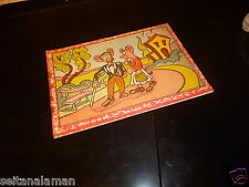 AMAZING VINTAGE RARE GREEK LITHO COVER DISNEY CHARACTERS PAINT BOOK 60s