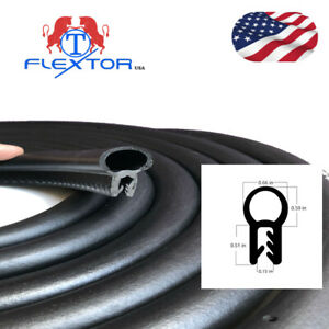 Rubber Seal Protector U Shape Bulb Weather Stripping Edge Waterproof EPDM 12 ft