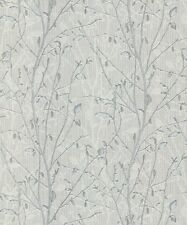 Arthouse Bosco Silver Wallpaper 291503 Heavyweight Vinyl Tree **