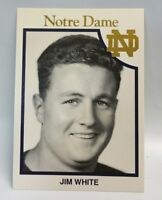 Jim White 1942-1943 Notre Dame Football Trading Card Fighting Irish All American