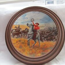 Knowles Collector`S Porcelain Plate Oklahoma In Frame 1986