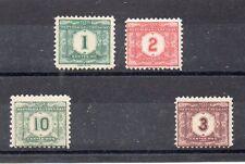 Uruguay Tasas Valor nº 1 y otros del año 1902-22 (CV-972)