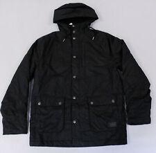 H&M Men's Full-Zip Padded Cotton Parka Jacket MC7 Black 0495884008 Medium NWT
