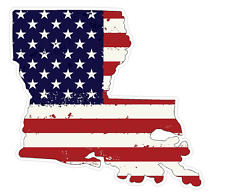 Louisiana State (J19) USA Flag Distressed Vinyl Decal Sticker Car/Truck Laptop/N
