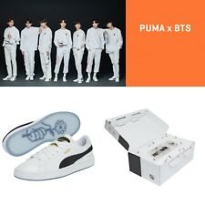 PUMA X BTS Limited Edition Basket Patent Sneakers Official Shoes Photo Card Box