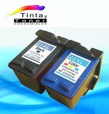 2 Cartuchos tinta para HP 21 + 22 XL f335 f340 f370 f380 f4100 f4140 f4172 f4180
