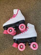 Chicago Girls Rink Roller Skate White Youth Quad Skates Size J13 Roller Skates