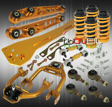 For 93-97 Civic Del Sol Eg2 Coilover Subframe+ Lower Control Arm Gold Camber Kit (Fits: Honda)