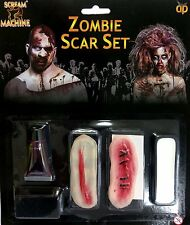 ZOMBIE SCARS FACE PAINT MAKE UP FAKE BLOOD SET HALLOWEEN FANCY DRESS 11936