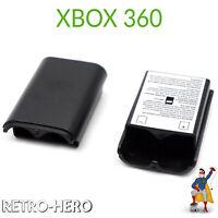 Akku Batterie Gehäuse Deckel Cover für Xbox 360 Schwarz Controller Fach Gamepad