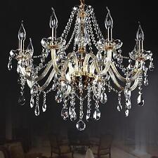 Vintage Crystal Ceiling Lighting Chandelier 8 Light Lamp Pendant Fixture Clear