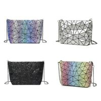 Summer Starry Sky Holographic Women Shoulder Bag Geometry Messenger Clutch Bags