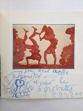 Jacques Lagrange dédicace signé dessin original catalogue tapisseries 1974