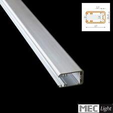 (13,90€/m)50cm Alu-Profil MIKRO-LINE Leiste für Glasflächen eckig abgerundet