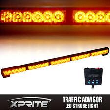 "Xprite 31.5"" 30 LED 16 Modes Traffic Advisor Strobe Light Bar Kit Amber / Yellow"