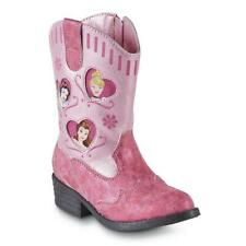 Disney PRINCESS Toddler Girl's Western Cowboy Boots SIZE 12 Pink NEW! FAST!