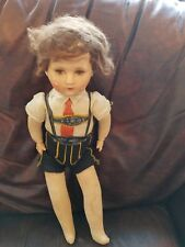 "German souvenir doll with a papier-mache face - 20"" with disk joints"