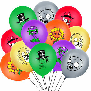 """10 X 12"""" PLANTS VS ZOMBIES  Multi Colour Latex Printed Balloons Birthday Party,"""