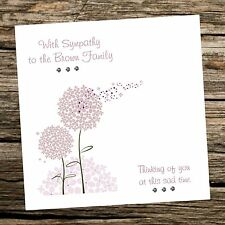 Handmade Greeting Card -Sympathy / Condolence - Can be personalised