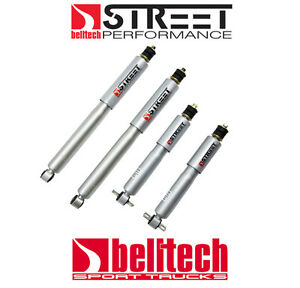 """97-03 Ford F150 Street Performance Front/Rear Shocks for 2/4 Drop 2-3""""F/4""""R"""