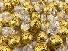 Lindt Lindor White Chocolate Truffles Candy, Gold Wrap Bulk - 2 Pound