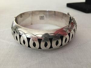 Mexico TAXCO Armreif Armband 925 Sterling Silber Art Déco Navajo