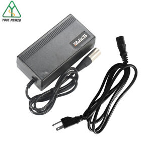 48V 6A Electric Motorcycle Charger fit 48V 50-55AH Lead Acid Battery Output54.5V-59.3V Auto Cutoff Intelligent Charger Power 380W