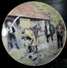"Wedgwood plate from the ""Working Horses"" series. ""The Farrier""."