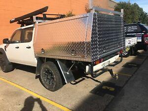 HEAVY DUTY Aluminium Canopy Gullwing Ute Truck Trailer Toolbox DUAL CAB