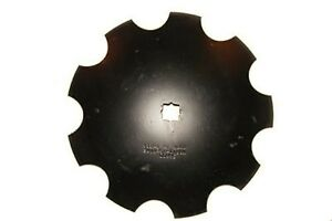 """16"""" Notched Disc Harrow Blades 1"""" x 1-1/8"""" Star Punched Hole"""