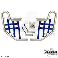 KFX 400 KFX400 Kawasaki   Nerf Bars  Alba Racing  Silver bar Blue nets 206 T1 SL