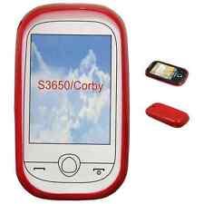 SAMSUNG S3650 CORBY - Housse Etui Anti Choc ROUGE