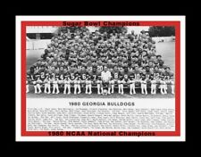 GEORGIA BULLDOGS WINS 1980 NCAA FOOTBALL NATIONAL CHAMPIONSHIP MATTED TEAM PHOTO