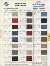 1984 Volkswagen Exterior Colors Dasher Jetta Quantum Scirocco Dupont Paint Chips