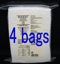 4 bags MUJI Organic Facial Cut Cotton pad puff 660 sheets 65x50mm /With tracking