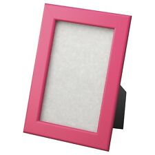 """IKEA Fiskbo Wood Wooden Picture Photo Frame 10x15cm 4x6"""" Dark Pink Hang or Stand"""
