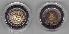 OMAN -  RARE PROOF BIMETAL 100 BAISA COIN 1991 YEAR KM#82 100 YEARS COINAGE +BOX