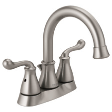 Delta Southlake 4 in Centerset 2-Handle Faucet Brushed Nickel 1.2 GPM 25755LF-SS