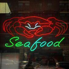 "New Big Crab Seafood Acrylic Neon Light Sign 22""x16"" Bar Decor Pub Poster"
