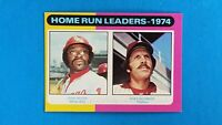 1975 TOPPS BASEBALL #307 HOME RUN LEADERS DICK ALLEN / MIKE SCHMIDT EXMT