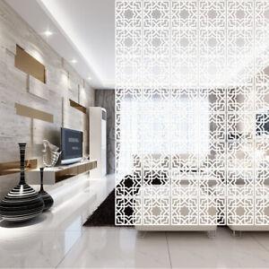 12x Hanging Room Divider White Screen Panels Living Room Bedroom Partition 29cm