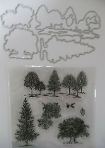 LOVELY AS A TREE w/ MATCHING DIES  Retired and very popular bundle + Stampin Up