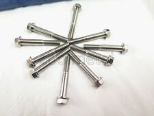 10PC Titanium M6 x 40mm Flange Bolts 1.0mm Pitch Hex Head Cap Screw, Hex 8mm